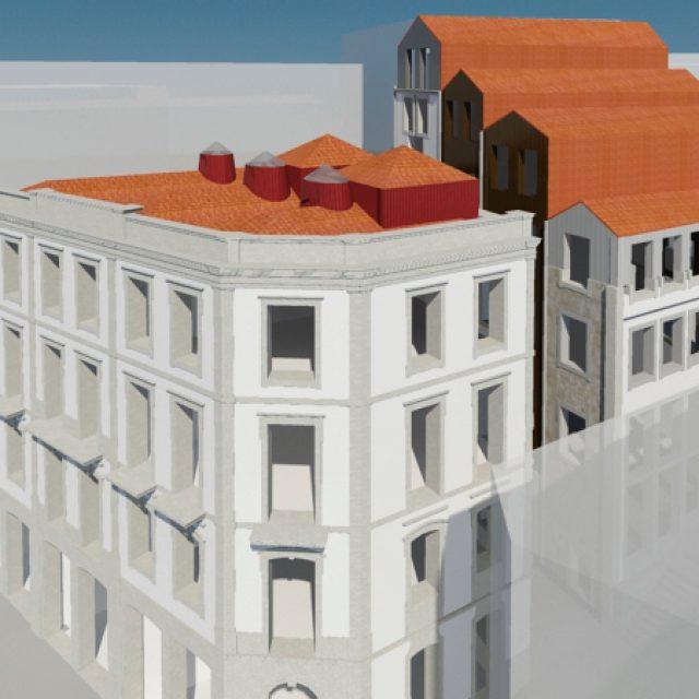 Edifício de habitação e comércio em Mouzinho da Silveira